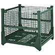 "Wire Mesh Hold & Fold Container - 45"" x 48"" x 42"""