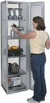 "High Visibility All-Welded Locker - 18-3/4""w x 18""d x 72""h"