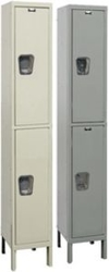 "Hallowell Quiet Locker - Double Tier, 1-Wide, 12""w x 12""d x 78""h"