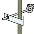 "Conveyor Net Hardware, Optional J-Guide for 5/8"" or 1/2"" Threaded Rod"