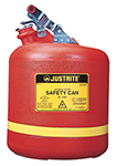"5-gal. Polyethylene Type I Flammables Can, stainless steel hardware, 12-3/4"" x 16"""