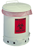 Biohazard Waste Can, 6 gallon with foot operated cover