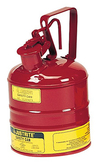 "Type I Red Flammables Safety Can, 1-gal., 7.25"" x 11.5"""