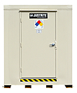 "2-Hour Fire Rated Outdoor Safety Locker - 12 Drum Capacity, 88""W x 119""D x 97""H"