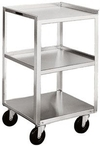 "Stainless Steel Equipment Stand - 3 16-3/4"" x 18-3/4"" Shelves, 300 lb. Cap."