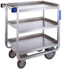 "Stainless Steel Utility Cart - 16 1/4""W x 30""L x 34 1/4""H - 700 lb. cap"