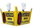 Warehouse Traffic Sensor 2 Large Lights - Ceiling Hung, 2-way Intersection