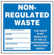 Blue Non-Regulated Waste Label - 6 in. x 6 in., Roll of 250
