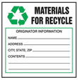 Materials for Recycle Label - 6 in. x 6 in., Roll of 250