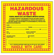 Yellow Hazardous Waste Label, New Jersey - 6 in. x 6 in., Roll of 250