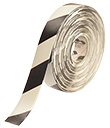 Floor Tape - White with Black, 2-in. x 100-ft.