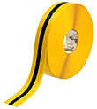 Floor Tape - Yellow with Black Center, 2-in. x 100-ft.