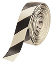 Floor Tape - White with Black, 3-in. x 100-ft.