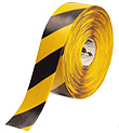 Floor Tape - Yellow with Black, 3-in. x 100-ft.
