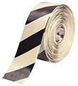 Floor Tape - White with Black, 4-in. x 100-ft.