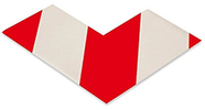 Floor Tape - Angle, Red with White, 6-in. x 6-in. x 3-in., Box of 100