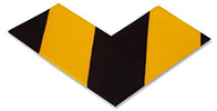 Floor Tape - Angle, Yellow with Black, 6-in. x 6-in. x 3-in., Box of 100