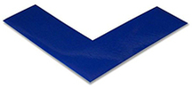 Floor Tape - Angle, Blue, 6-in. x 6-in. x 2-in., Box of 100