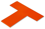 Floor Tape - T, Orange, 6-in. x 6-in. x 2-in., Box of 100