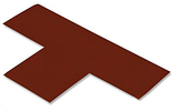 Floor Tape - T, Brown, 9-in. x 6-in. x 3-in., Box of 100