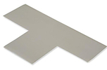 Floor Tape - T, Grey, 9-in. x 6-in. x 3-in., Box of 100