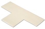 Floor Tape - T, White, 9-in. x 6-in. x 3-in., Box of 100