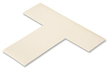 Floor Tape - T, White, 6-in. x 6-in. x 2-in., Box of 100