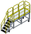 "Mobile Work Platform - 25.5 Sq.Ft., 54""H Deck"