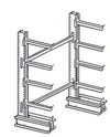 "8'h x 4'w Medium-Heavy Duty Cantilever Rack - Starter  - (4) 24"", 650 Lbs. Cap. Arms"