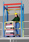 "Rolled Overhead Safety Gate - Rack Supported, 60""W x 84""H x 60""D (approx.)"