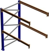 "Pallet Rack Adder Section, 96""H x 36""D x 120""W, 7335 lbs. Cap., 2 Beam Levels"