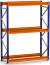 "Wide Span Bulk Shelving Starter for Wood/Metal Deck - 96""h x 72""w x 24""d"