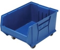 "Mobile Jumbo Stackable Containers - 23-7/8""d x 16-1/2""w x 11""h"