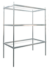 "Aluminum Cannabis Drying Rack with Three Adjustable Frames - 72""W x 36""D x 84""H"