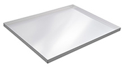 "Solid Aluminum Cannabis Drying Tray - 30-1/2""W x 24""D with 1-1/4"" lip"