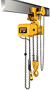 Electric Hoist w/ Geared Trolley - 1 Ton, 10' Lift, 14 ft/min