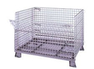 Foldable/Stackable Wire Container; 4000 Lbs. Cap. - 40dx 48w x 30.5h