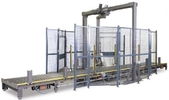 Automated Rotary Tower Conveyorized Stretch Wrap System - 50 loads/hr.