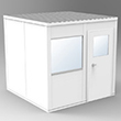 Modular In-Plant Office - 8' L x 8' W x 8' H, W/ 4 Walls