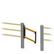 Auto-Closing Swing Gate for Flexible Handrail