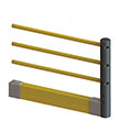 Flexible Handrail & Floor Level Guard Rail Adder Kit - 5 Ft. Section