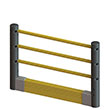 Flexible Handrail & Floor Level Guard Rail Starter Kit - 5 Ft. Section