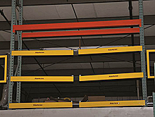 Self-Closing Mezzanine Pallet Gate - 6'W