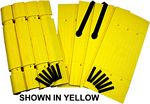 Parking Column Protector - Black Kit: 4 Corners, 4 Planks, Yellow Straps