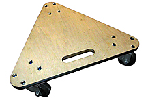 "Heavy-Duty Hardwood Deck Triangular Dolly - 20"", 450 lbs. cap."