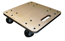 "Heavy-Duty Hardwood Deck Square Dolly - 16"" x 16"", 1000 lbs. cap."