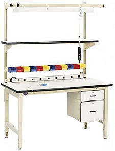 "Industrial Workbench,  60""W x 30""D x 30""H, Plastic Laminate Top"