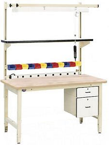 "Industrial Workbench,  60""W x 30""D x 30""H, Solid Maple Top"