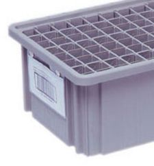 "Clear Label Holders to Fit: DG 91035 - DG 92035 - DG 93030 Dividable Grid Containers, 2"" x 8"" - Carton of 6"
