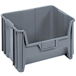"Giant Stackable Container - 15-1/4""D x 19-7/8""W x 12-7/16""H, Carton of 3"